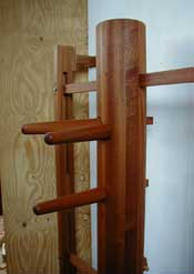Wall mounted dummy in Sapele