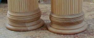 A pair of new replacement column bases