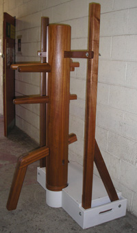 Sapele freestanding wooden dummy